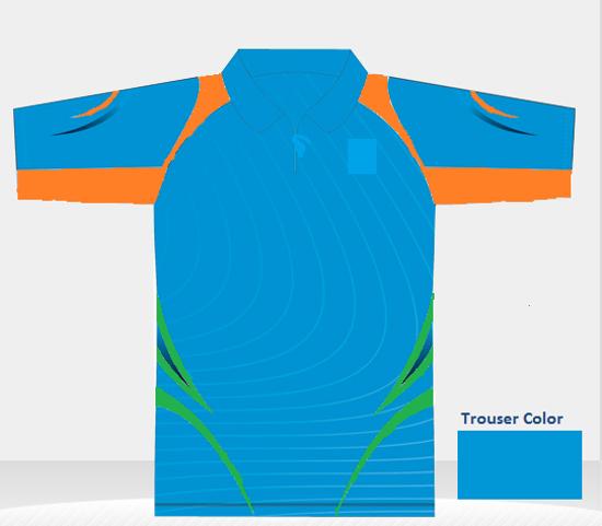 Picture of Custom T20 Color Team Uniform Shirt/Trousers set