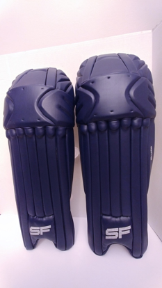 Picture of SF Batting Legguard Ranji (ambi) NAVY BLUE - Dual Wing