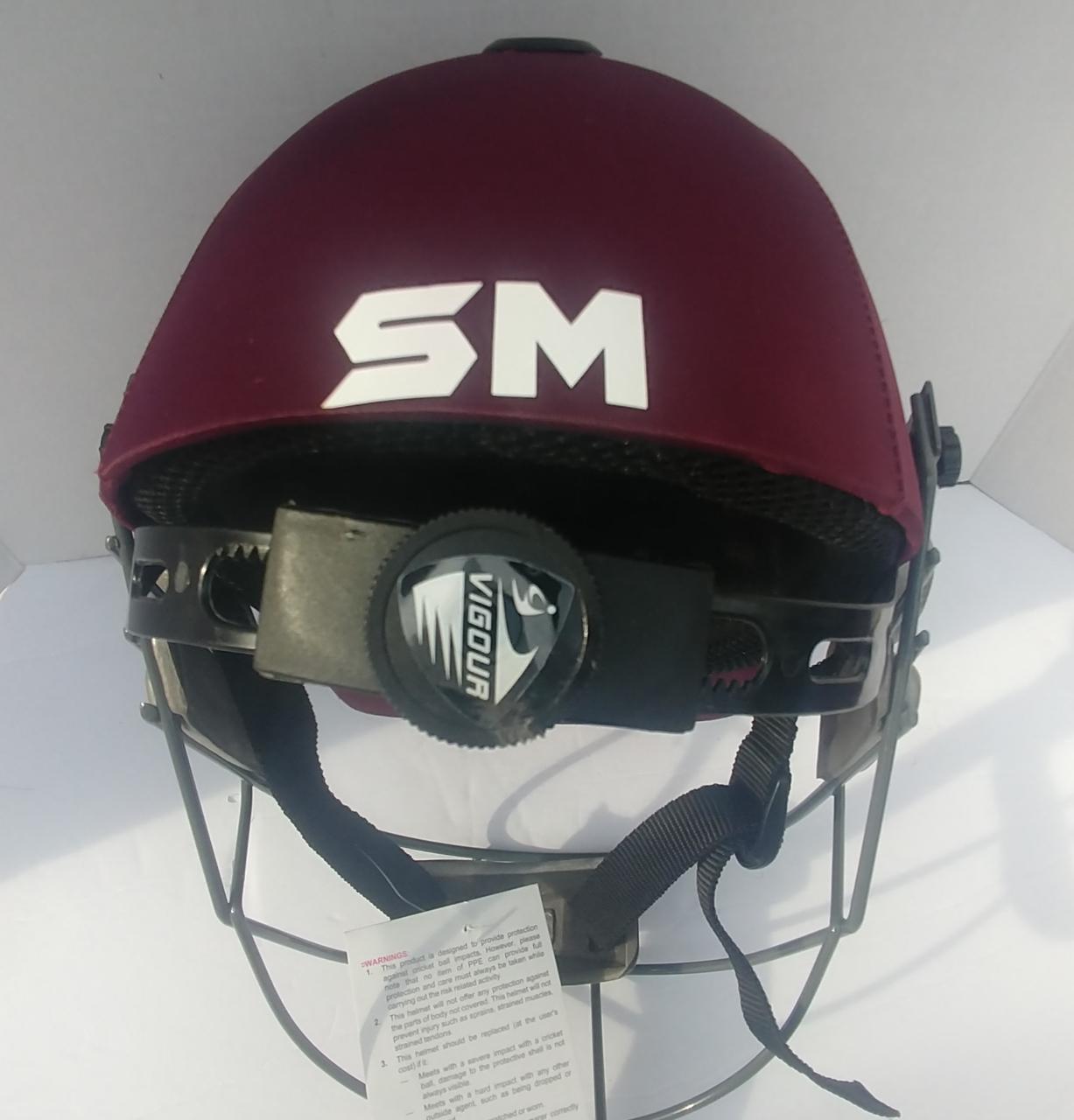 Picture of SM Cricket Helmet VIGOUR - Maroon
